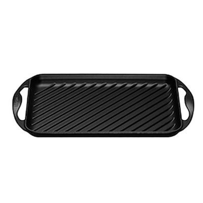 Grill rectangular 22 x 32,5 cm negro