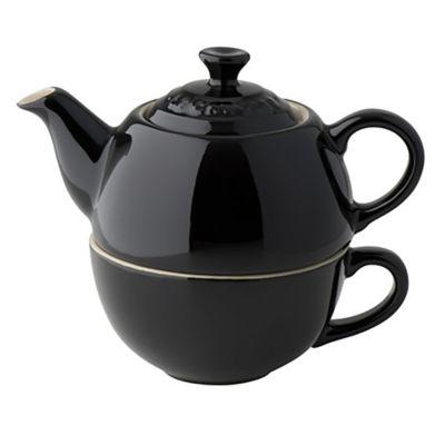 Set de té para uno negro
