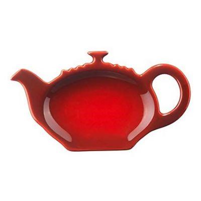 Platillo posa saquitos de té cereza