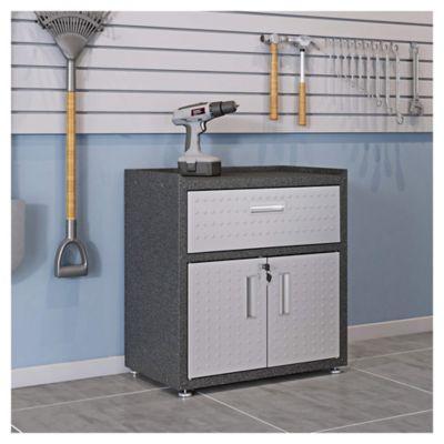 Armario de acero 1 estante negro y gris