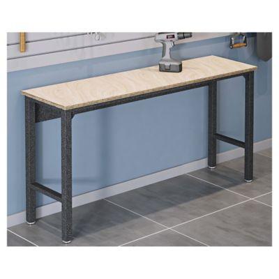 Mesa de trabajo de acero y cedro negro