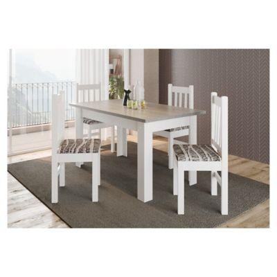 Juego de comedor San Pablo 1 mesa y 4 sillas