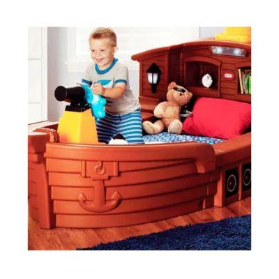 Cama barco pirata con luz