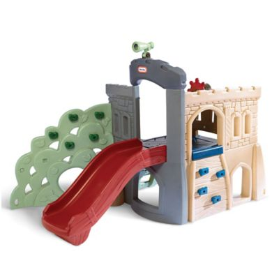 Escalador con tobogán