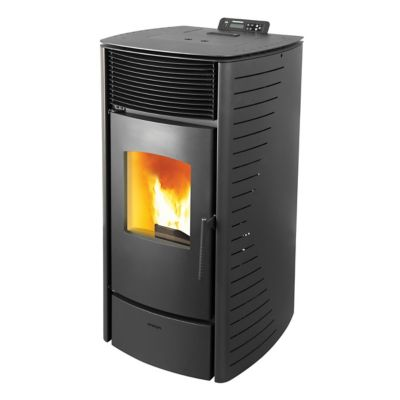 Calefactor a pellet Forte 7kw negro