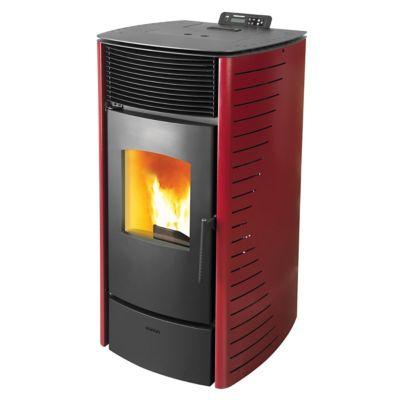 Calefactor a pellet Forte 7kw roja