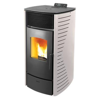 Calefactor a pellet Forte 10kw blanco