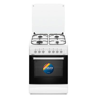 Cocina a gas CENX5642W Europa 60 cm 4 hornallas plateada