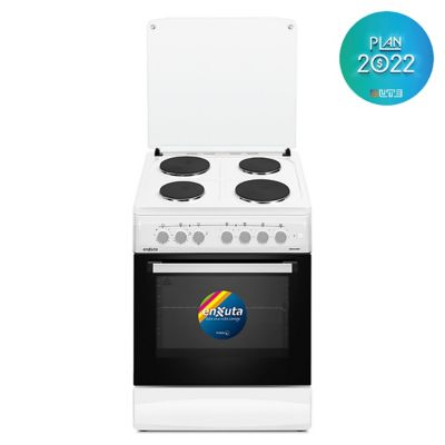 Cocina eléctrica CENX5648W Europa 60 cm 4 discos blanca