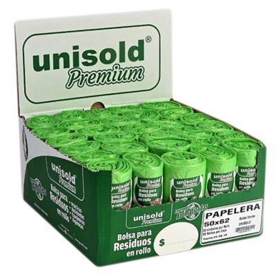 Pack de 10 bolsas verdes 50 x 62 cm