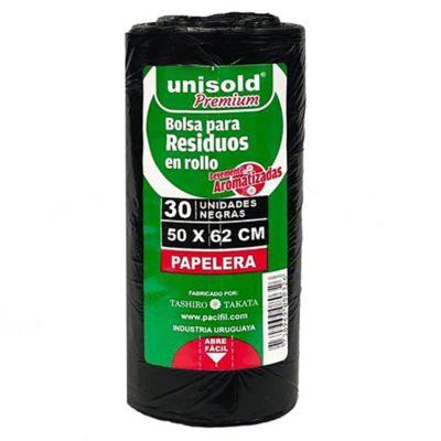 Pack de 30 bolsas negras 50 x 62 cm