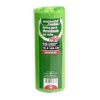 Pack de 10 bolsas verdes 70 x 105 cm