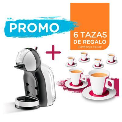 Cafetera Mini Me 1500 w blanca y negra con 6 tazas