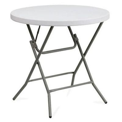 Mesa plegable redonda blanca 80 cm