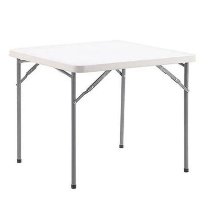 Mesa plegable cuadrada blanca 70 cm