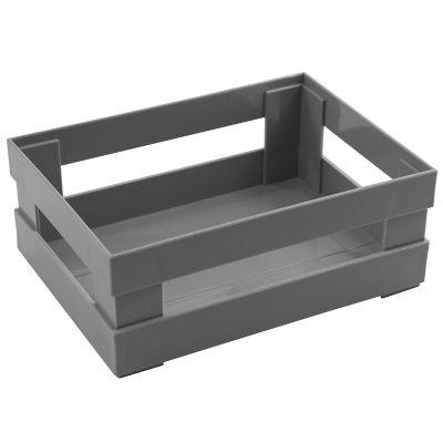 Canasto organizador de plástico gris