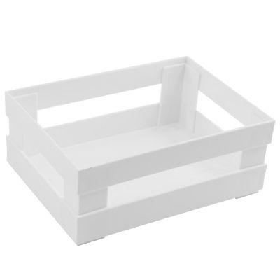Canasto organizador de plástico blanco
