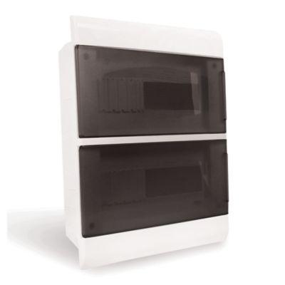 Tablero de embutir 24 módulos puerta transparente