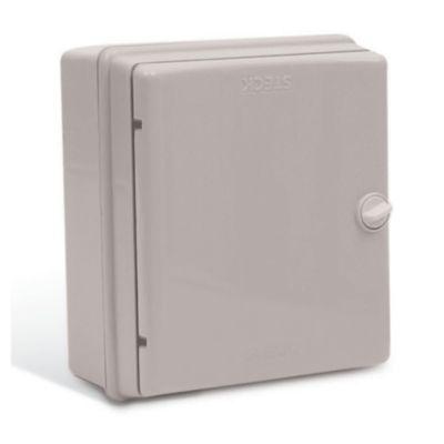 Caja para interruptores 9 módulos puerta opaca