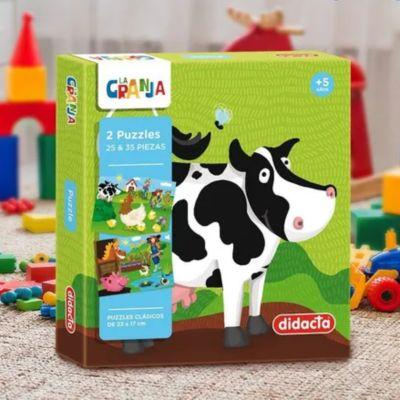 2 Puzzles La granja 25 y 35 piezas