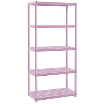 Estantería plástica rosa con 5 estantes