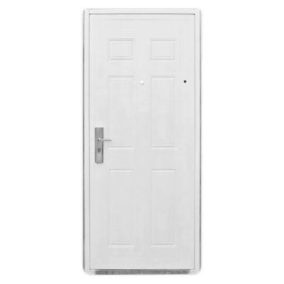 Puerta exterior de chapa reforzada blanca 85 cm derecha