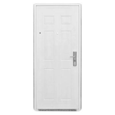 Puerta exterior de chapa reforzada blanca 85 cm izquierda