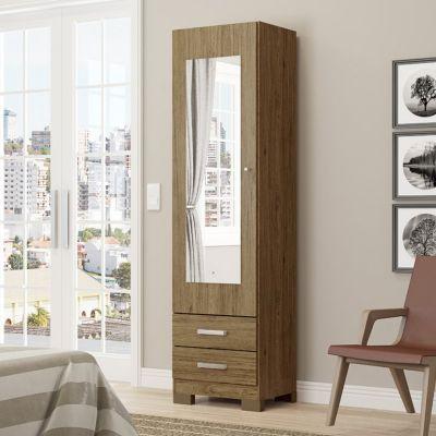 Mueble zapatero León con espejo rústico