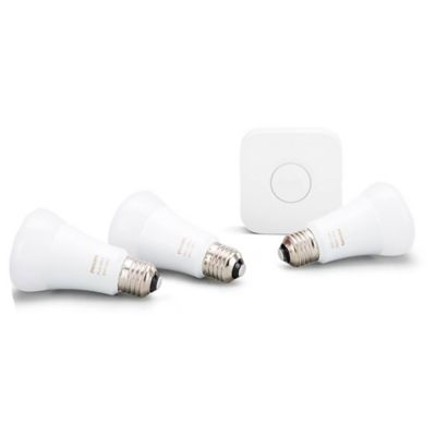 Hue starter + 3 lámparas de luz LED A60 9.5 w E27 white/color