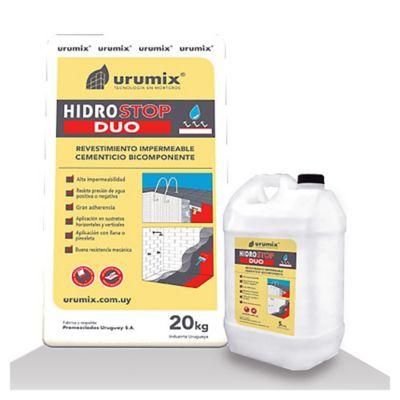 Revestimiento impermeable hidrostop duo 20 kg + 5 L