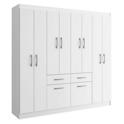 Placard 10 puertas con 2 cajones blanco