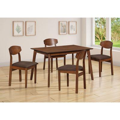 Juego de comedor Acacia 1 mesa y 4 sillas