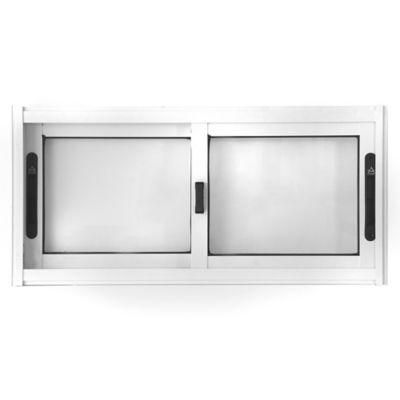 Ventana de aluminio corrediza blanca s/20 80 x 40 cm