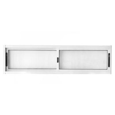Ventana de aluminio corrediza blanca s/20 150 x 40 cm