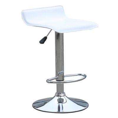 Set de dos silla bar altura regulable blanca