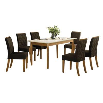 Juego de comedor Ghala 1 mesa y 6 sillas