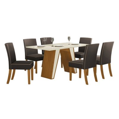 Juego de comedor Kenya 1 mesa y 6 sillas