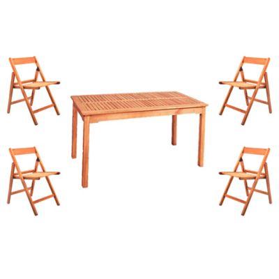 Juego de comedor: Mesa + 4 sillas Iguazú
