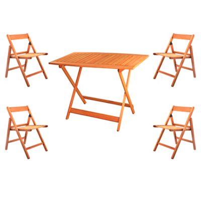 Juego de comedor: Mesa + 4 sillas Tucan