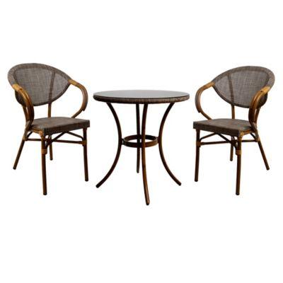Juego de balcón: Mesa + 2 sillas Milano