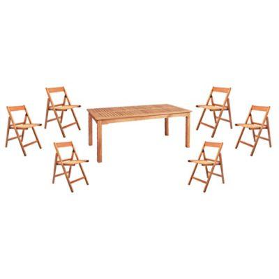 Juego de comedor: Mesa + 6 sillas Iguazú