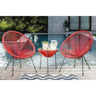 Juego de balcón: Mesa + 2 sillas Cozumel coral