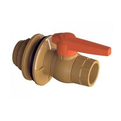 Adaptador Flange Com Registro Soldavel / Roscável Caixa De Água marrom 32mmx1/2