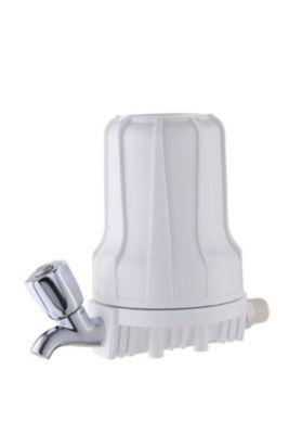 """Filtro De Água Com Torneira Carbon Block 5"""" Branco Para Ponto De Consumo Cozinha 907-0020"""