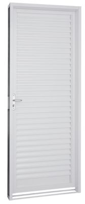 Porta Veneziana Aço Branco Direita 217x87x6,5cm Pratika