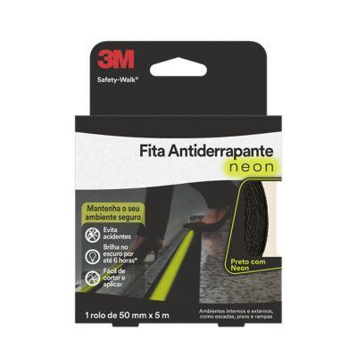 Antiderrapante Neon Rolo, Preto, 50x5mm