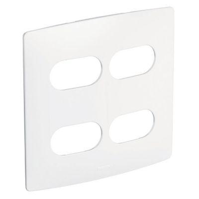 Placa 2+2 Postos Separados 663420 Nereya, Branco, 4x4