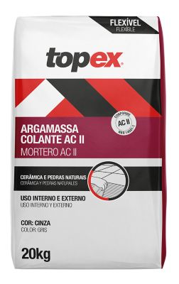 Argamassa Flexivel ACII Externo 20kg Cinza