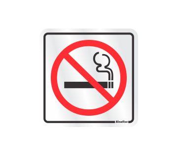 Placa Alumínio Proibido Fumar 12x12