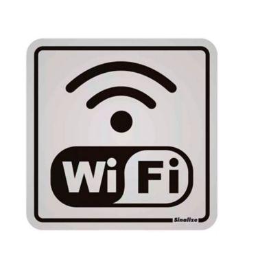 Placa Alumínio Internet Wi Fi, 12x12